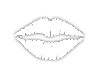 Lipstick Kiss decal