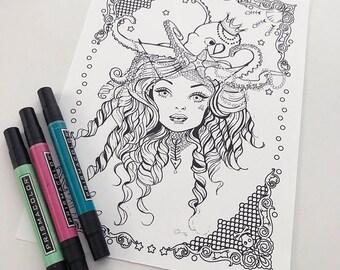 Mermaid Download Coloring Page Pocket Full of Posiez
