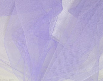 Tulle Netting Dress Fabric 140cm Wide 30 Colour Range - Lilac