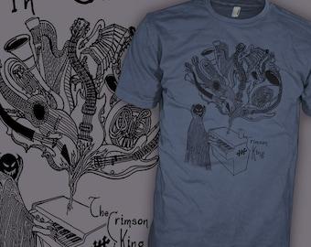 Mellotron Shirt - Progressive Rock Demon - Mellotron Keyboard - Prog T-Shirt
