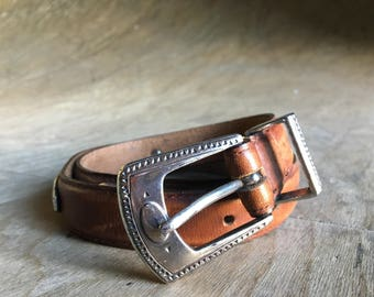 Vintage Brown Conch Belt