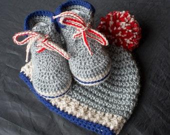 Baby Boy Set, Baby Boy Shoes, Boy Shoes, Boy Boots, Crochet Work Boots, Crochet Boy Hat, Photo Prop, Boy Booties, Baby Booties, Baby Shower.
