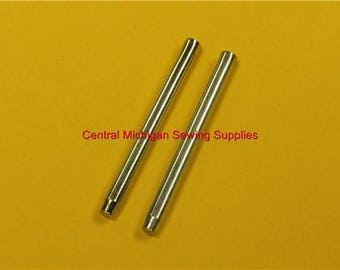 2 Metal Press In Spool Pins For Sewing Machines Fit Singer Model 15, 27, 28, 66, 99