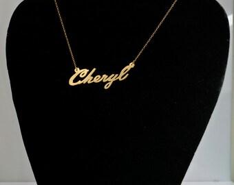 "Name Necklace ""Cheryl"""