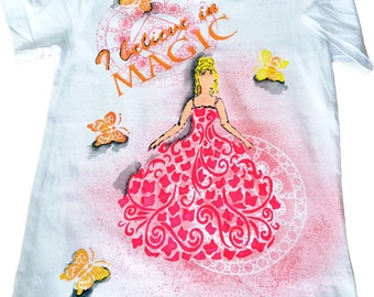 Hand-painted T-shirt for lovely princess