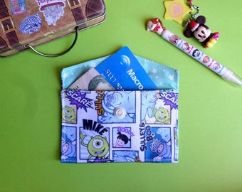 Cute Monsters Inc Card Holder Mini Coin Purse Wallet Sulley Mike Wazowski