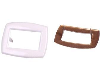 Ivory Metal Shoe or Purse Vintage Buckles (MS30CRSB)