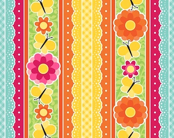 Anna's Garden Eyelet Stripe by Patrick Lose Fabrics - Buttercup 63793-2430715 Quilt Fabric