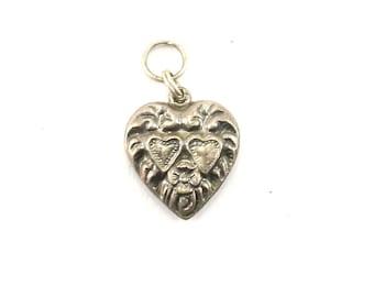 Vintage Heart Shaped Pendant 925 Sterling PD 1323-E
