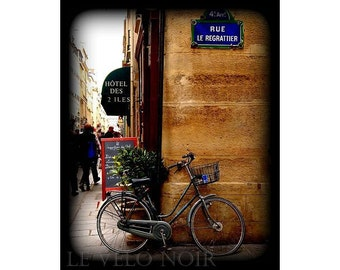 Paris, France, Bicycle at the Rue Le Regrattier, 8x10 (MATTED to fit 11x14 frame) fine art print