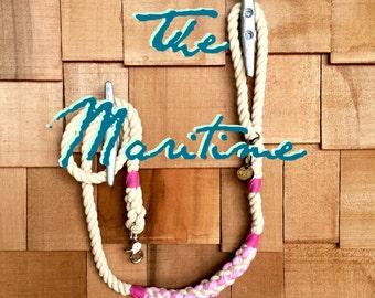 The Maritime Traditional Dog Leash, Dog Lead, Rope Lead, Cotton Rope Leash, Handmade Rope Leash, Christmas Gift, Dog Gift
