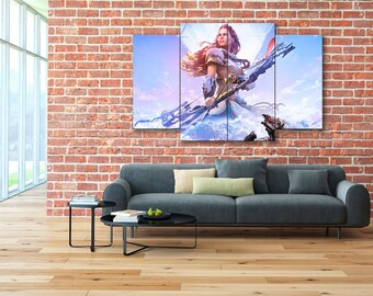 Aloy wall art, RPG canvas, Horizon Zero Dawn canvas, Aloy canvas, Horizon Zero Dawn, RPG, Horizon Zero Dawn print, Horizon Zero Dawn art