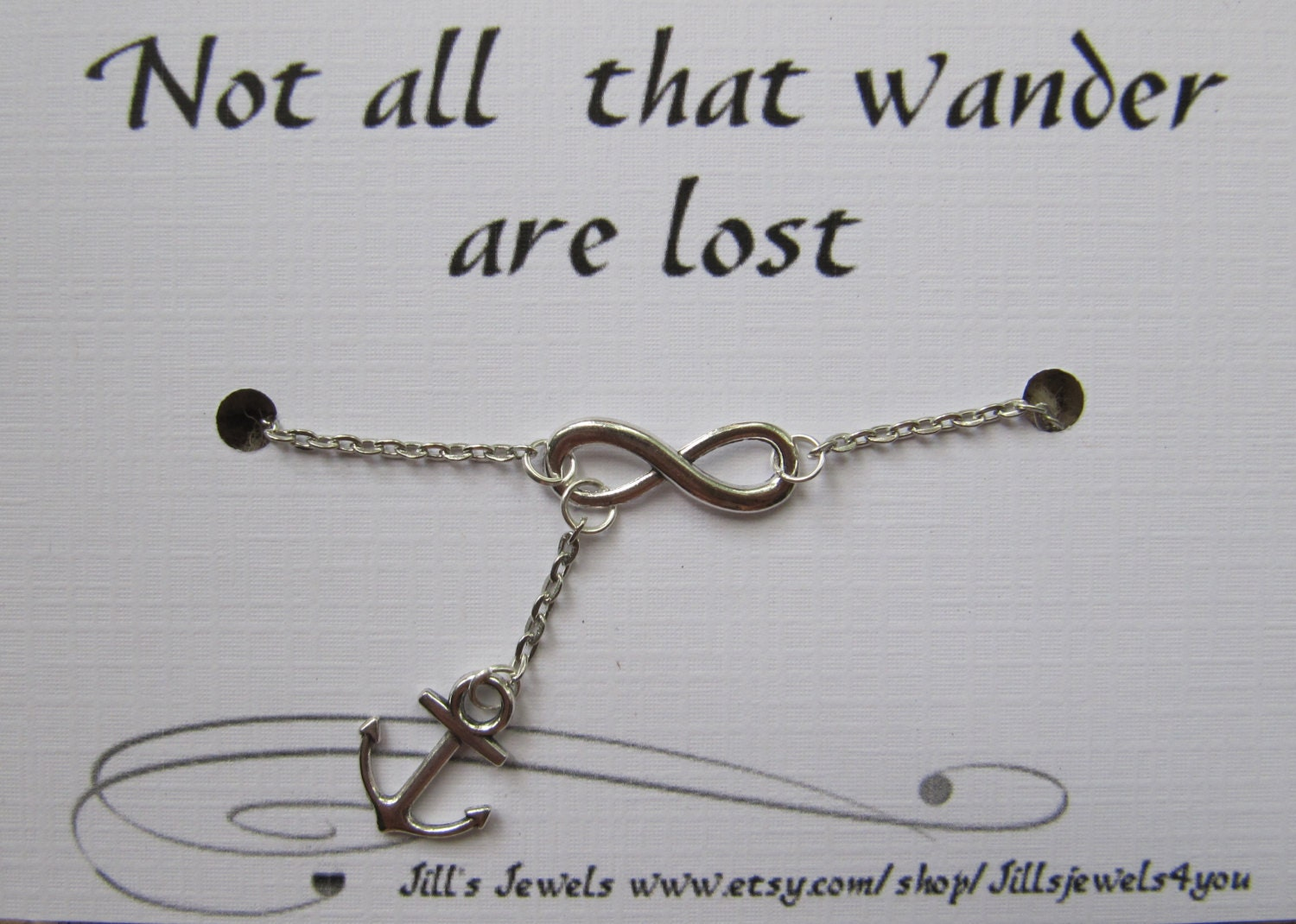 Infinity Quotes Infinity And Anchor Charm Necklace And Quote Inspirational