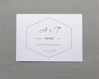 Geometric Hexagon Invitation Template