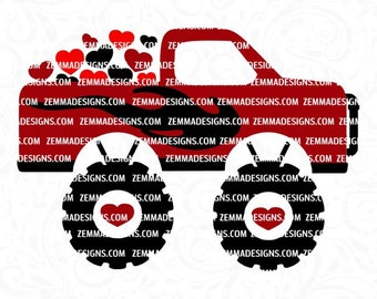 boy valentine svg, monster truck svg, Valentine svg files, Valentine svg, Valentine dxf, Valentine clip art, boy svg files, Valentine cut
