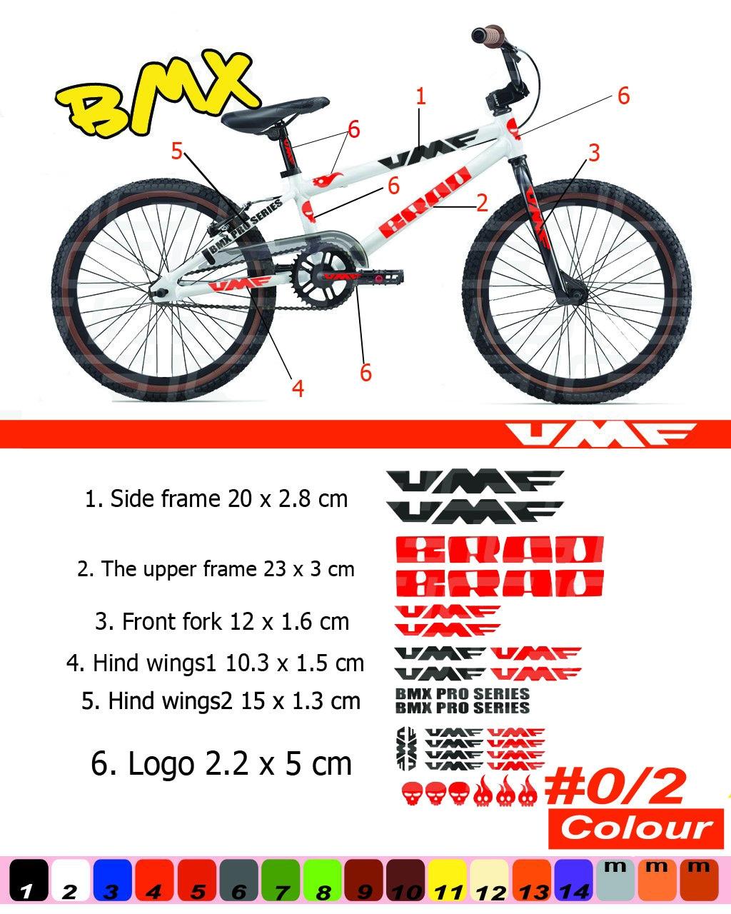 UMF Fahrrad Rahmen Aufkleber Autocollant Fahrrad Berg