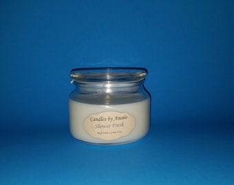 Shower Fresh scented Coconut Wax Candle