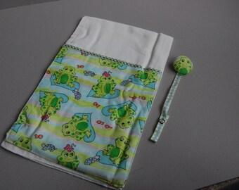 Froggy Burper & Paci Clip - ready to ship