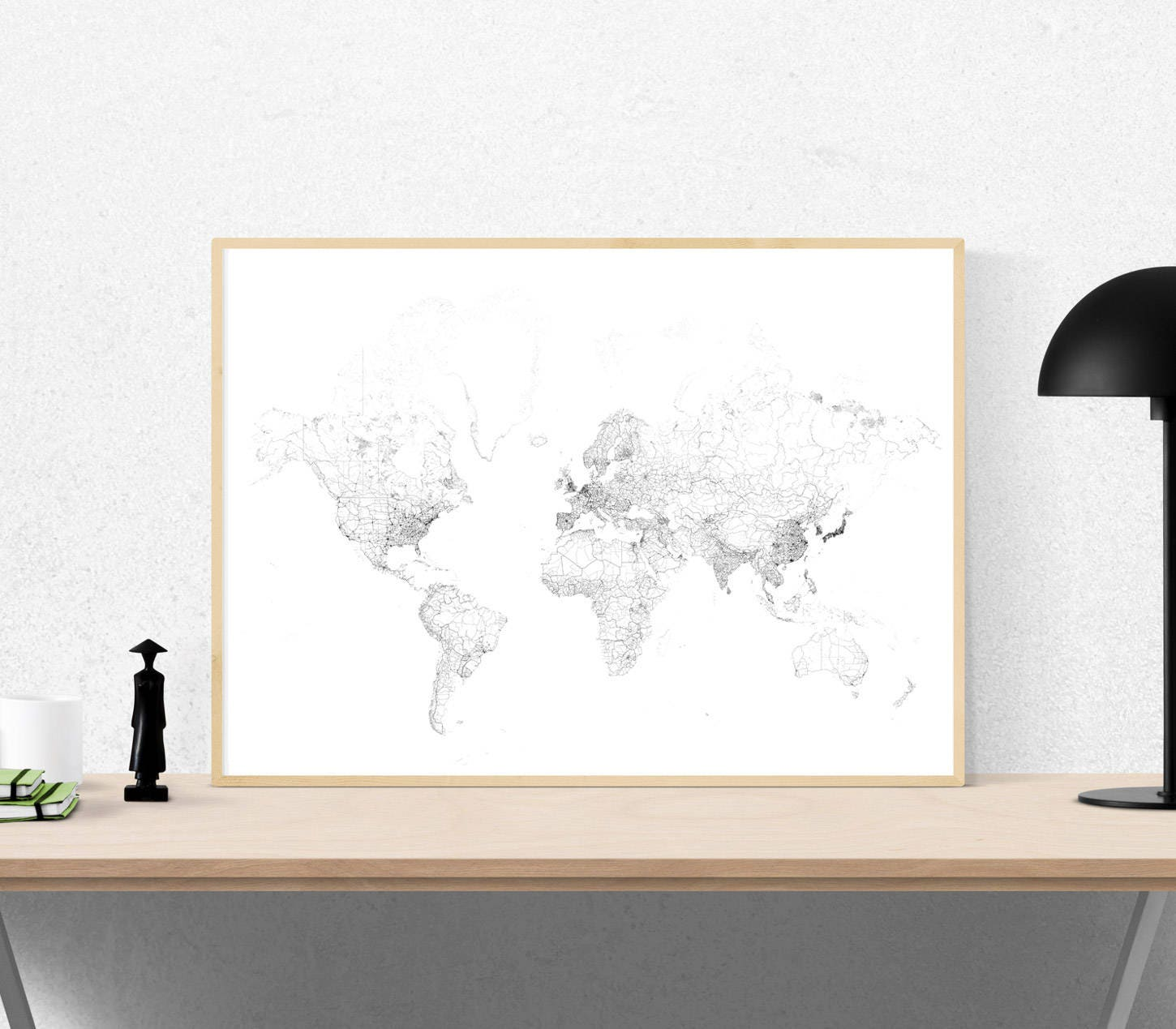 carte du monde poster du monde affiche de la terre affiche. Black Bedroom Furniture Sets. Home Design Ideas