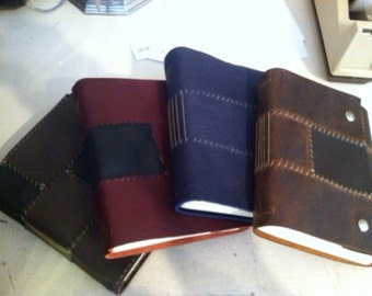 Custom made leather journal