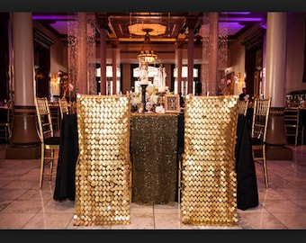GOLD Sequin Chiavari chair and Round back Covers. Wedding Decoration. Discount for over 10 pieces.