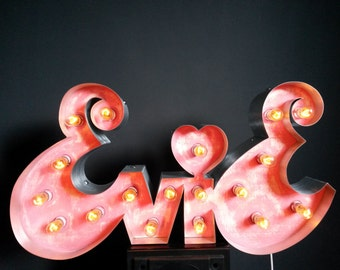 Marquee light up letter custom signs.