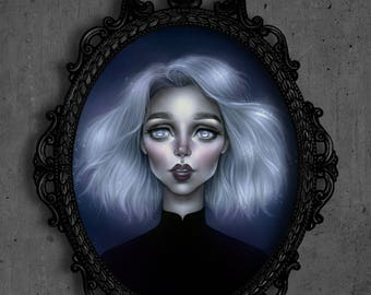 "Pop Surrealism Fine Art Print - Limited Edition Print - Lowbrow Wall Decor - Fine Art Print of an Original Painting - "" Marja """