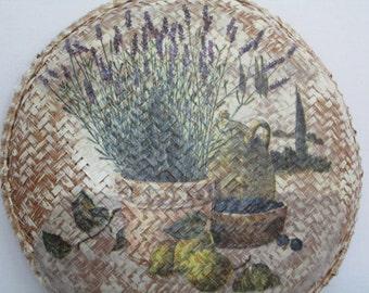 Wall Art, Tuscany Landscape, Wicker-basket Easter Gift