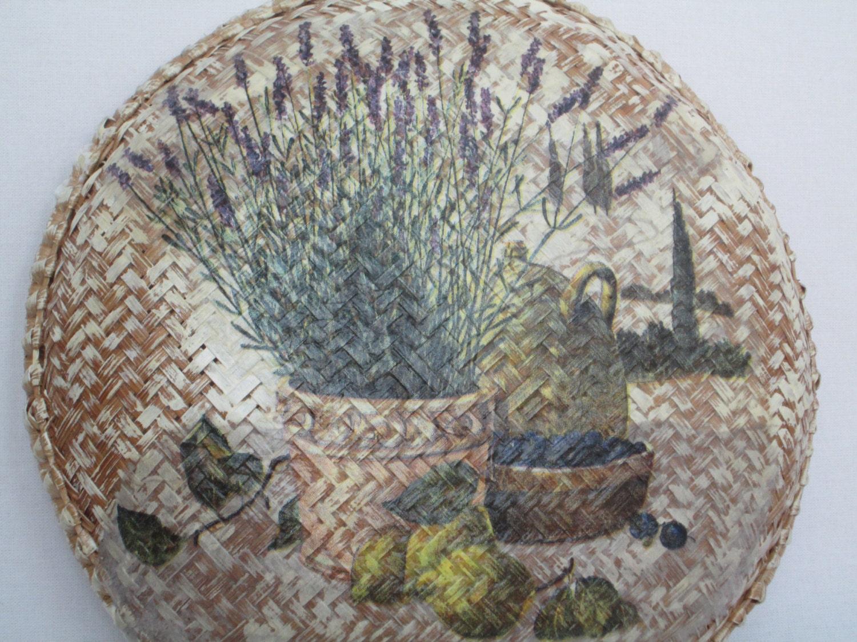 Wand Kunst Toskana Landschaft Weidenkorb Ostergeschenk
