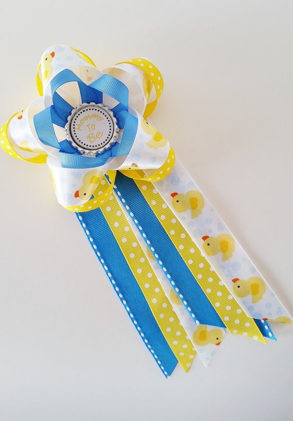 Rubber Ducky Baby Shower Corsage Mommy To Be Pin Baby Shower