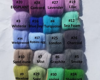 CHEAP ◼ 1 lb  Merino roving wool ◼ 21.5 micron ◼ 66s ◼ for arm knit and hand crochet ◼ pound