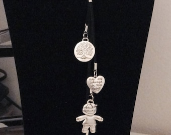 Baby Necklace long pendant tibetan charms heart Child Babies