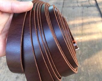 200 cm Leather Strap, Genuine Leather Strap, Leather Handles, Bag Sraps, camera Straps, Belt Straps 2cm flat