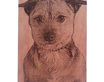 Your photo engraved onto wood
