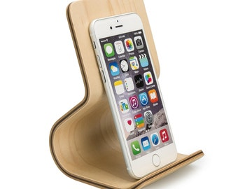 Phone Stand Maple| iPhone Wood Stand | Telephone Wood Stand | Maple SPECIAL EDITION