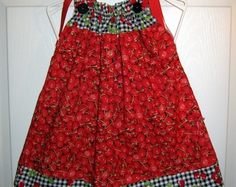 Bowl of Cherry Pillowcase Dress - 12 to 18 mth old