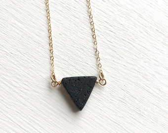 Triangle Lava Aromatherapy Essential Oil Diffuser Necklace