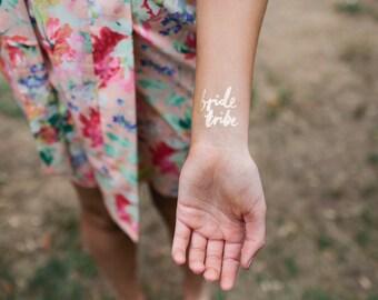 Bride Tribe tattoo, bachelorette tattoos, bridesmaid tattoo, gold bachelorette party, bridesmaid gift,bachelorette party favors,bride tattoo