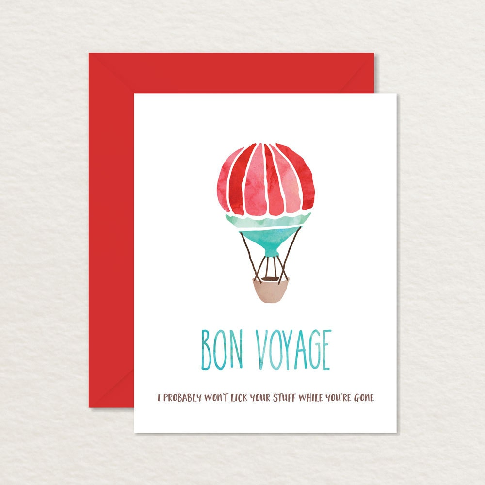 Printable farewell card watercolor hot air balloon a2 zoom kristyandbryce Image collections