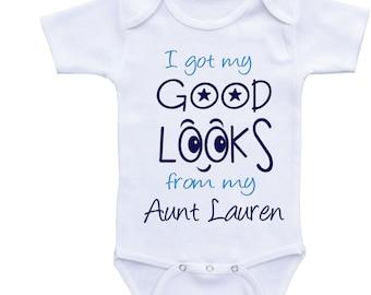 Funny aunt onesie boy auntie baby clothes Auntie onsies aunt baby outfit Auntie onesie Aunt baby onesie funny boy onesie funny baby onsies