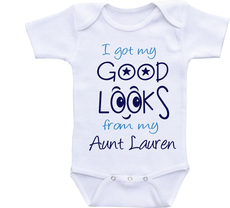 Funny aunt onesie boy auntie baby clothes Auntie onsies aunt
