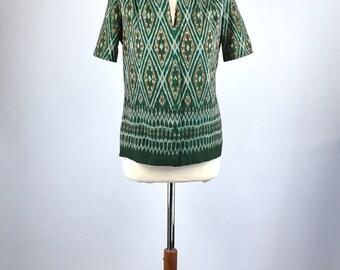 Lightweight Guatemalan Boho Blouse, Ethnic Textile Blouse