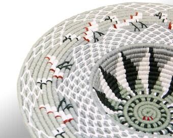 Crane Coiled Linen Bowl