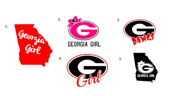 Georgia bulldog vinyl decals