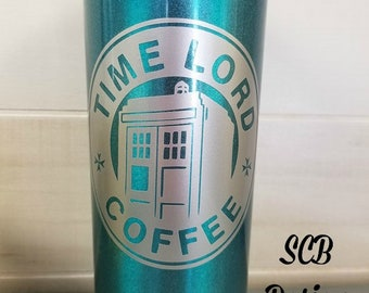 Doctor Who Time Lord Coffee Tardis Vinyl Decal
