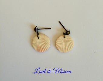 """cream earrings """"back from Thailand"""""""