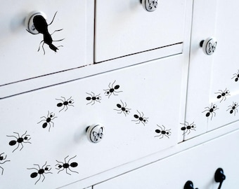Set of 16 Ants Vinyl Wall Decal Stickers Insect Interior Home Decor