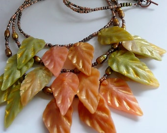 Polymer Clay Tutorial Jade Leaves Necklace