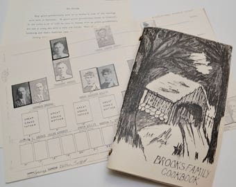 vintage family cookbook, family history / genealogy information / photos included