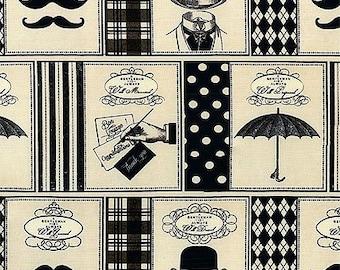 """Gentlemen Victorian Fashion Panel 44""""W x 22.25""""L"""